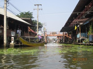Tranquil ride down Bangkok canal called klong.